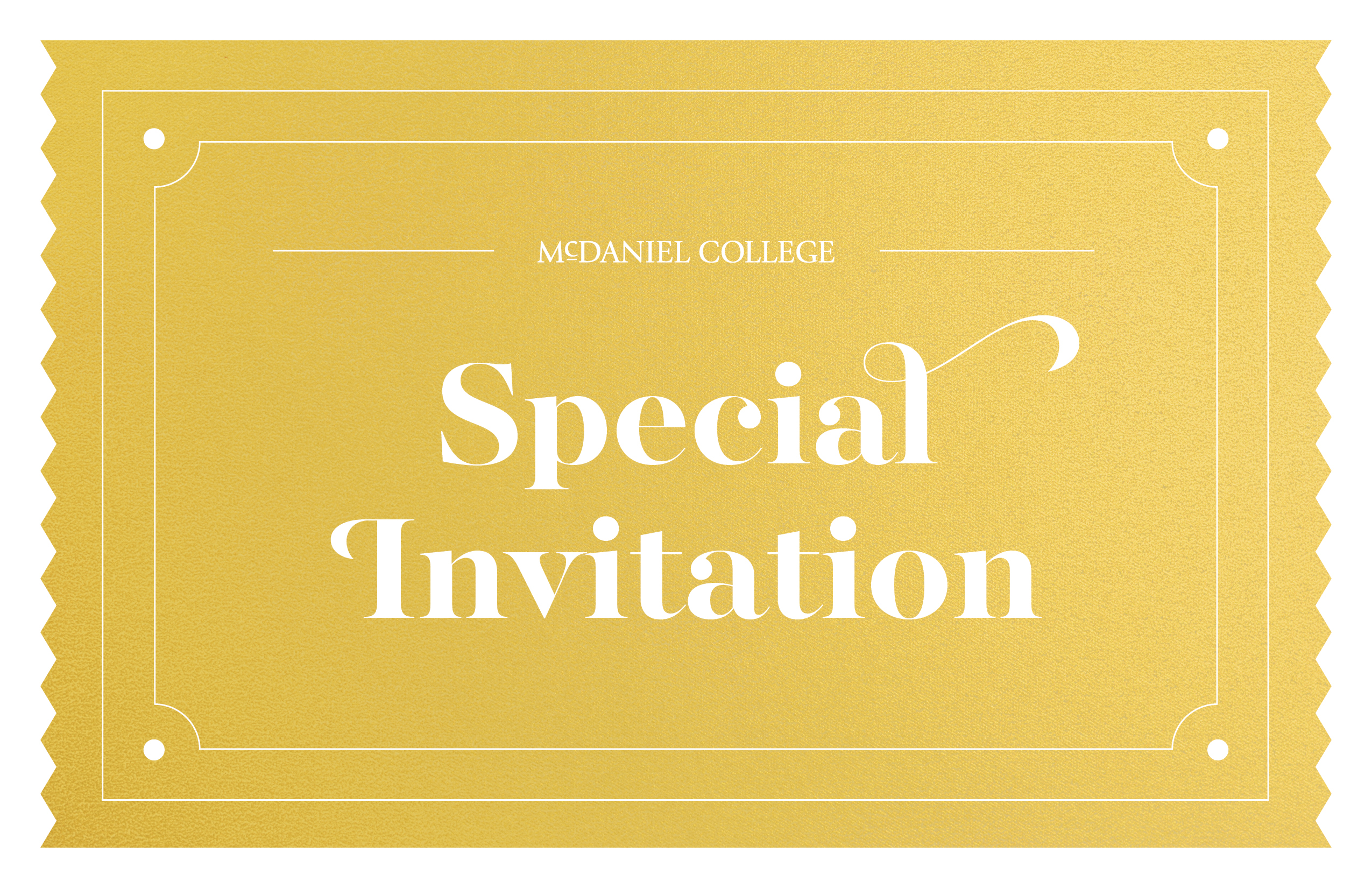 A Special Invitation from McDaniel College
